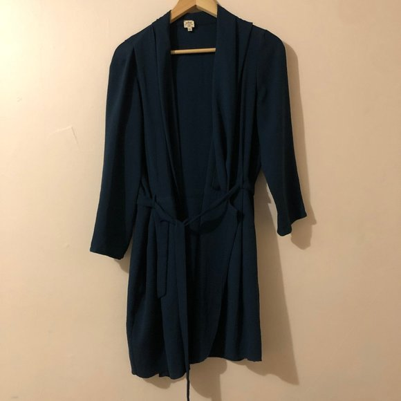 Wilfred Teal Wrap shirt